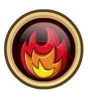 boton de fuego